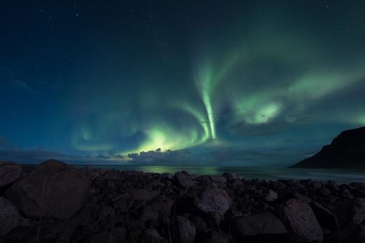 coworkation Lofoten aurores boréales